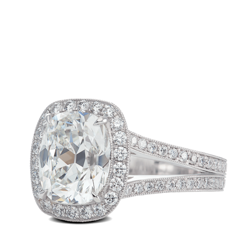 ring-bespoke-spilt-shank-cushion-halo-pave-diamonds-platinum-steven-kirsch-03