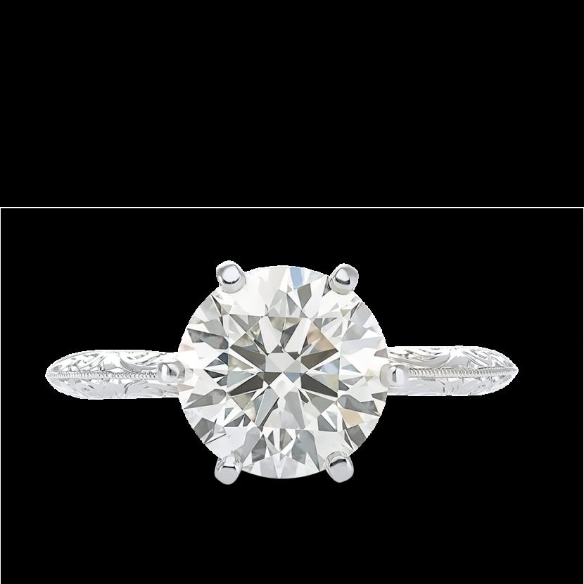 ring-francesca-round-diamond-six-prong-solitaire-engraving-vintage-platinum-steven-kirsch-01