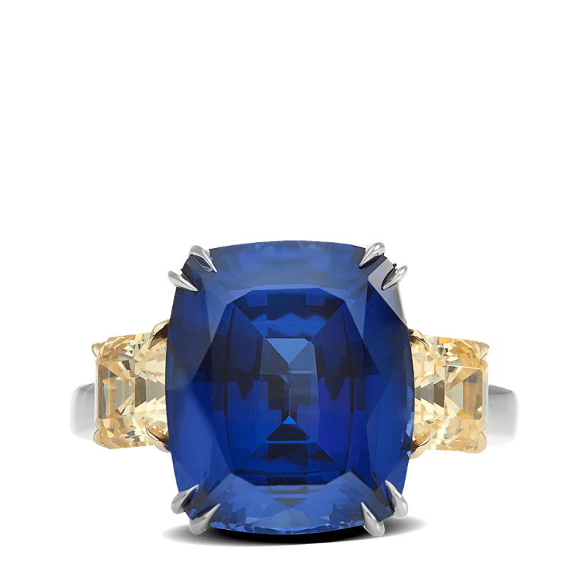 ring-Azul-cushion-sapphire-asscher-diamonds-three-stone-platinum-gold-steven-kirsch-3.png
