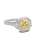 ring-Fleurdelis cushion-diamond-halo-pave-platinum-gold-steven-kirsch-1