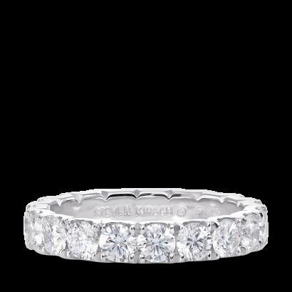 ring-infinity-ucut-low set-diamonds-eternity-wedding-band-platinum-steven-kirsch-1