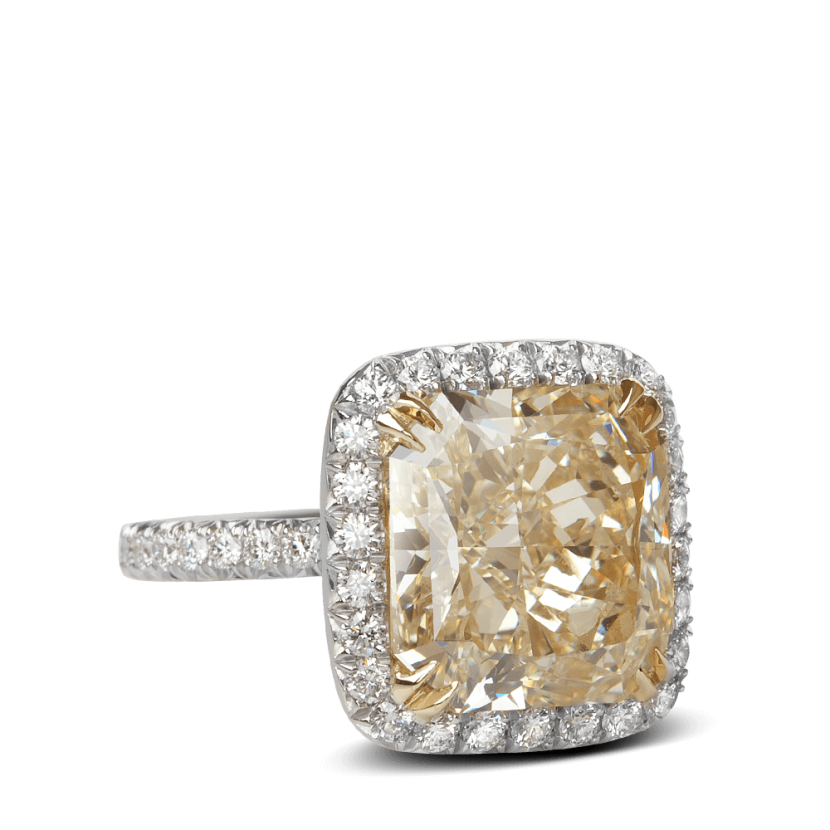 ring-Cari-halo-yellow- diamond-pave-gold-platinum-2