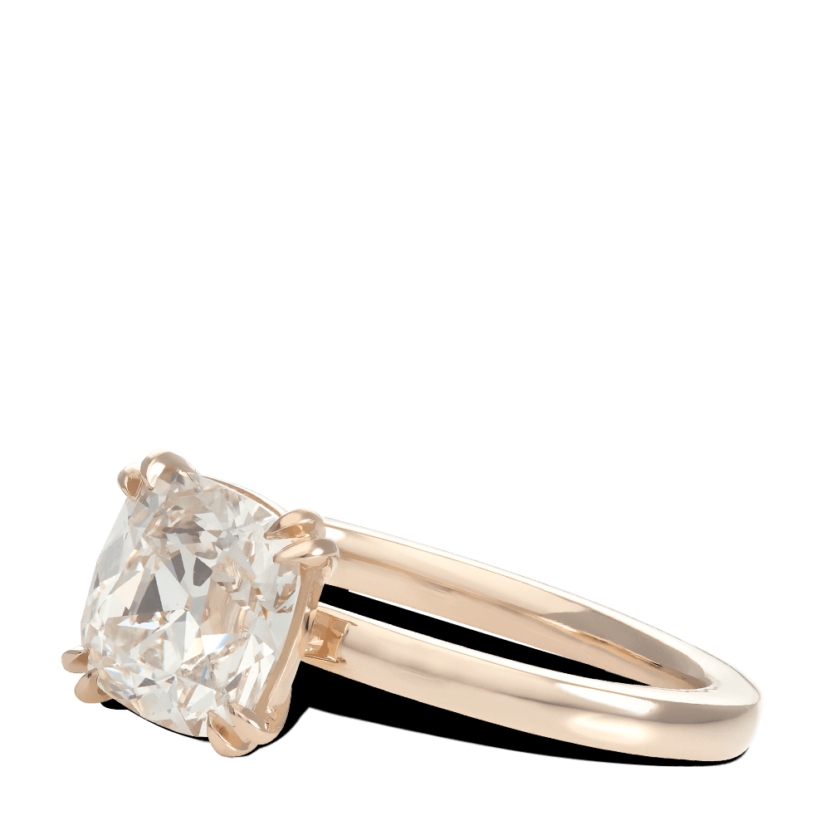 ring-Classic-Four-Prong-cushion-diamond-solitaire-gold-steven-kirsch-3