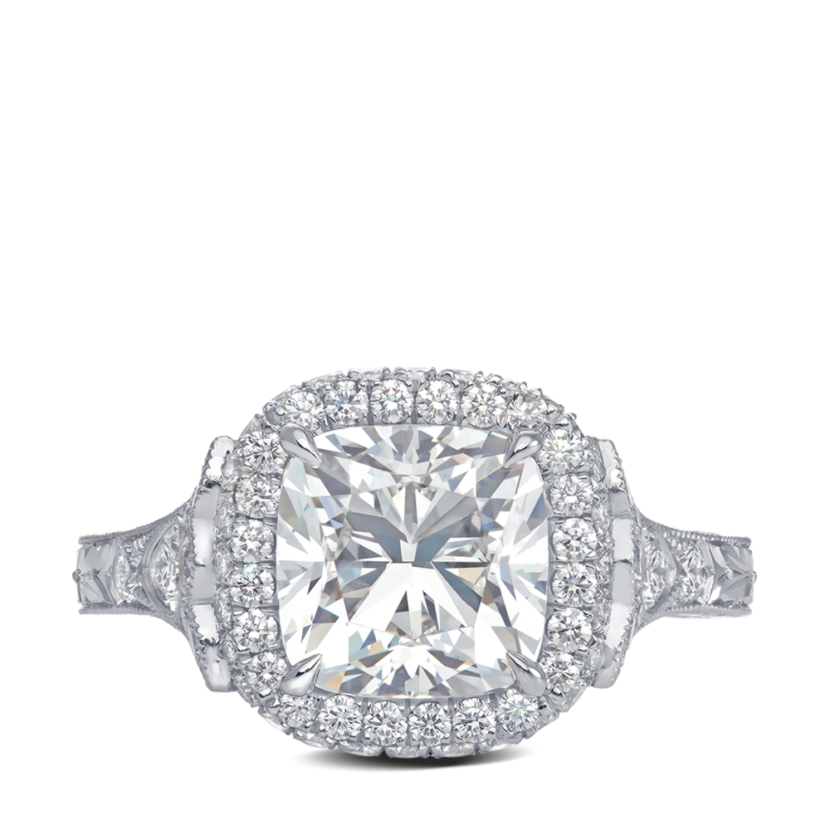 ring-true-love-halo-cushion-diamond-pave-engraving-platinum-steven-kirsch-3
