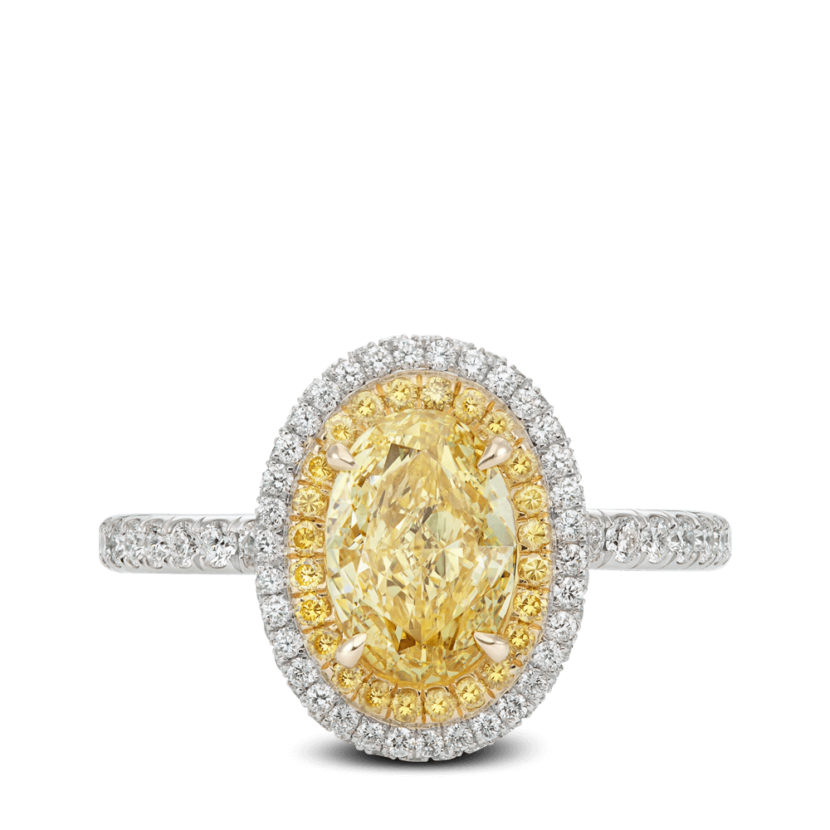 ring-lumiere-yellow-diamond-halo-oval-white-diamonds-double-edge-pave-platinum-steven-kirsch-1